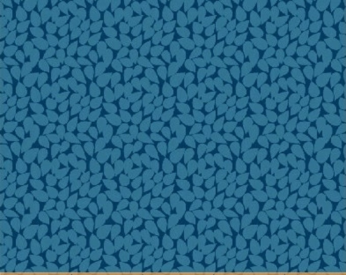 Windham Butterfly Dance Navy Royal Blue Indigo Leaf Scatter Floral Fabric 50240-5 BTY