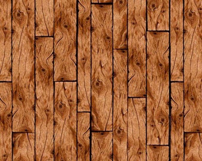 Quilting Treasures Loveable Labs - Wood Planks - Brown 1649-27288A Fabric BTY