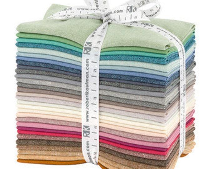 Kaufman Elizabeth Hartman Arctic Coordinates Essex Linen 30 Fat Eighth Fabric Bundle