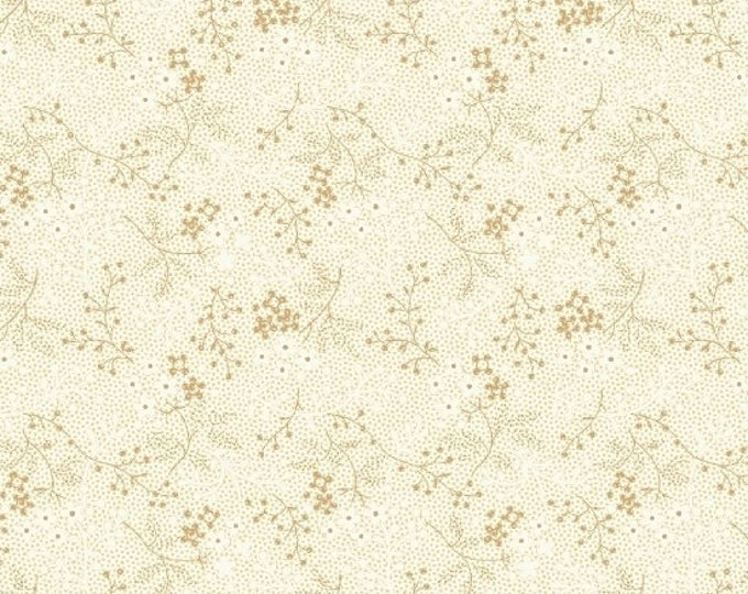 Marcus Cozies Sarah J Cream Beige Floral Cozy Flannel Fabric 2117-0290 BTY