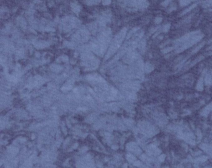 RJR Handspray Mottled Medium Blue Stormy Night Tonal Fabric 4758-086 BTY