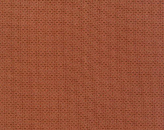 Moda Miniature Gatherings Rust Orange Copper with Red Green Fabric 1156-16 BTY
