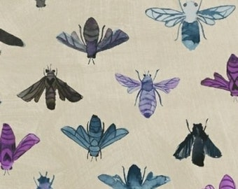 Windham Dreamer Carrie Bloomston Save the Bees Bee Bug Stone Cream White Fabric FQ 42568-3