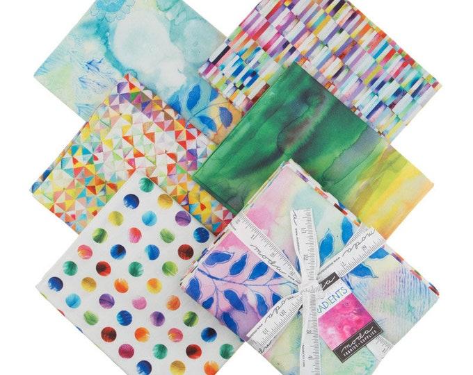 Moda Gradients Basics Multi Rainbow Ombre Strip Rectangle Fabric 33360-YDM 5 Yds