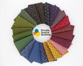 20 Civil War Marcus Moda RJR Windham Reproduction Quilt Fabric Fat Quarter Bundle