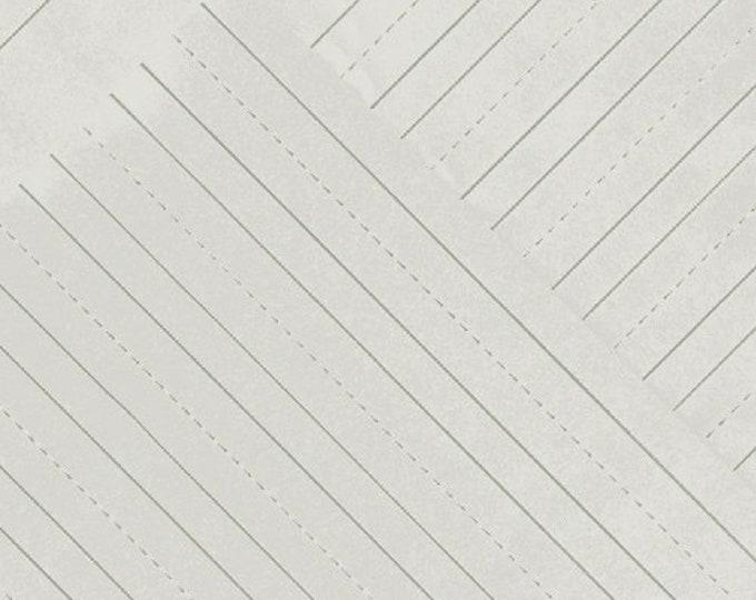 Windham Heather Givans Jot Lunar Grey Penmanship Lined Notebook Paper Gray 50457-7 Fabric BTY