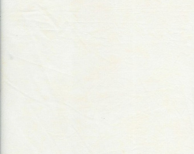 Batik Textiles Blender 8434 Cream off White Natural Solid Marbled Batik Fabric BTY