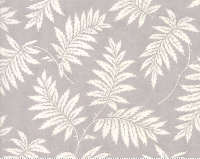 Moda POETRY Grey Gray Ferns Leafy Leaves Floral 3 Sister's Shabby Fabric 44135-17 BTY