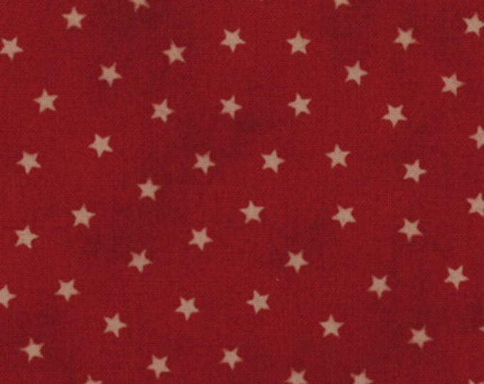 Moda OLD GLORY Primitive Gatherings Red Star Patriotic Dark Red Star Patriotic Fabric 1074-20 BTHY