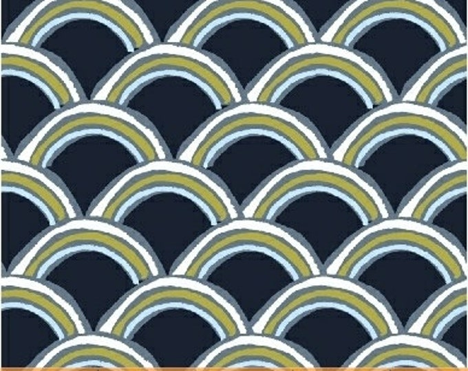 Windham Heather Givans Literary Gatsby Navy Blue Green White Book Fabric 42707-10 BTY