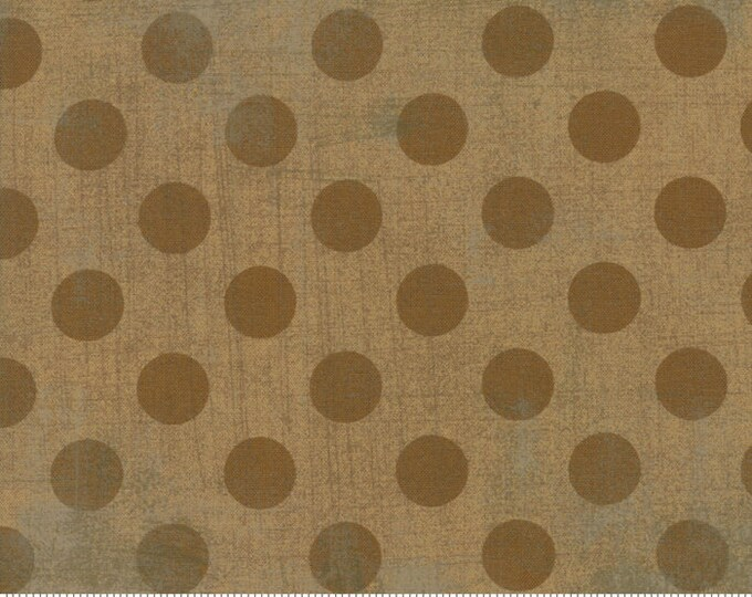 Moda Basic NEW KRAFT Hits the Spot Brown Polka Dot Grunge 30149-44 Fabric BTY