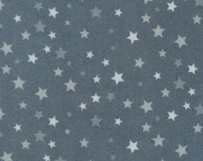 Kaufman Welcome Baby Flannel Lucy Belfield Gray Grey Stars Boy Girl Kid Blender Fabric 17893-12 BTY