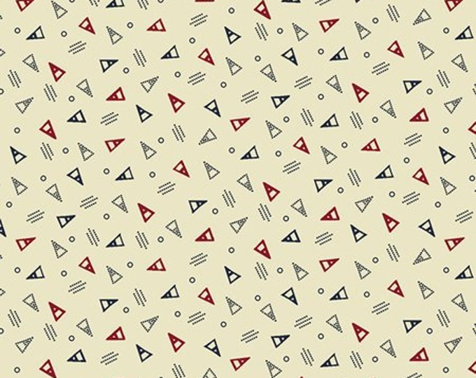 Windham Clayton Nancy Gere Red with White Blue Triangles Civil War Reproduction 43410-5 Fabric BTY