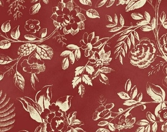 Windham Simply Red Cream Floral Civil War Reproduction Fabric 42892-1 BTY