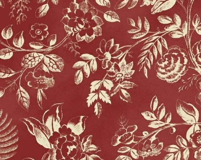 Windham Simply Red Cream Floral Civil War Reproduction Fabric 42892-1 BTHY
