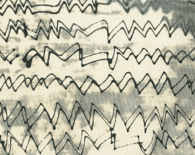 NEW Windham The Opposite by Marcia Derse Black White Gray Grey Scribble Radio Waves Line Modern Fabric 51067-1 BTY