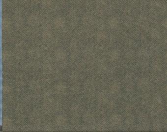 Maywood Woolies Brown Grey Gray Herringbone MASF-1841-JK Flannel Fabric BTY