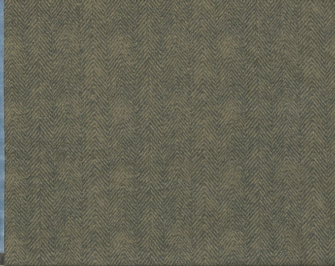 Maywood Woolies Brown Grey Gray Herringbone MASF-1841-JK Flannel Fabric BTY