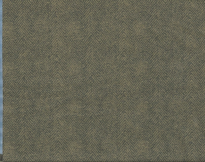 Maywood Woolies Brown Grey Gray Herringbone 1841-JK Flannel Fabric BTHY