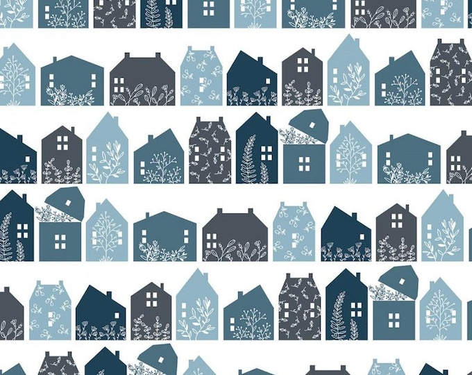 Gingham Farmhouse by Poppie Cotton GF19104 Cotton Fabric Basic Farmhouse Row Navy BTY