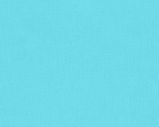Robert Kaufman Kona Cotton Solids BAHAMA BLUE 1161 Aqua Turquoise Blue Fabric BTY