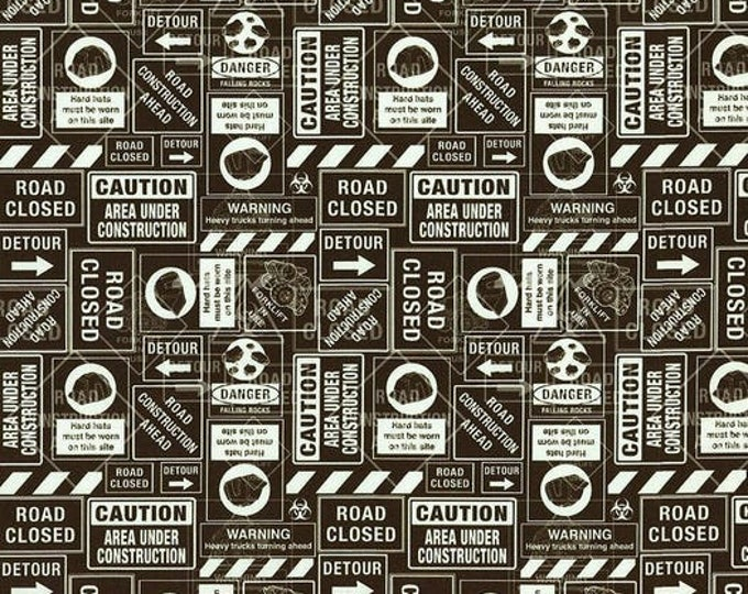 Camelot Fabrics Tonka Street signs 95060106 Fabric BTY