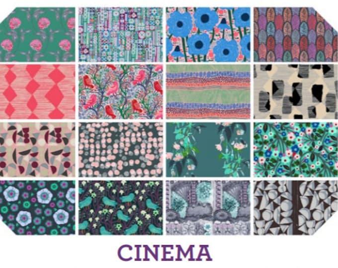 Free Spirit Cinema Anna Maria Horner Conservatory Floral Fabric Purple Green Pink Blue 16 Fat Quarter FQ Bundle