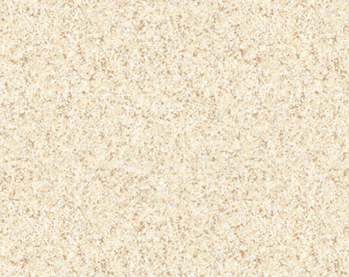 QT Fabric Sea Treasures Sand Summer Beach Beige Cream Fabric 24478-E BTY