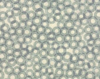 Moda Mon Ami Registre Blue Grey Cream Circles Fabric 30415-15 BTY