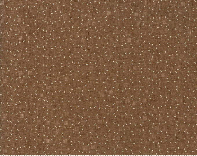 Moda Jos Shirtings by Jo Morton Brown Beige Square Dot Civil War Fabric 38046-19 BTY