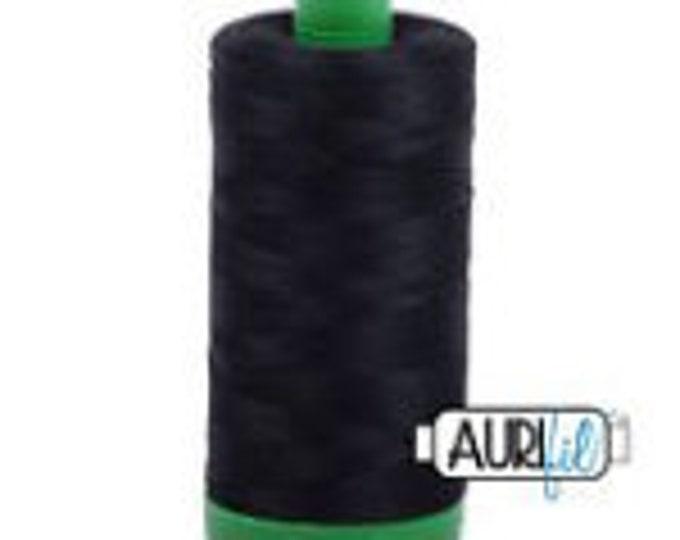AURIFIL MAKO 40 Wt 1000m 1039y Color 2692 Black Neutral Quilt Cotton Quilting Thread