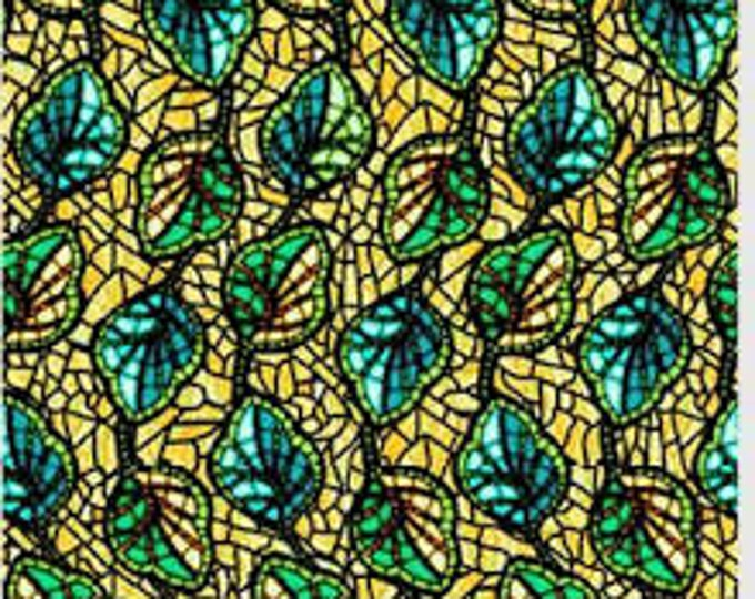 PB Textiles Fabric Art Glass 00816 Yellow Cotton Fabric BTY