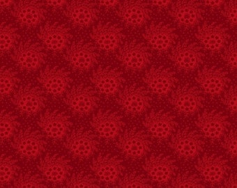 Marcus Old Sturbridge Village Civil War Christmas Red Tonal Background Fabric 3161-0111 BTY