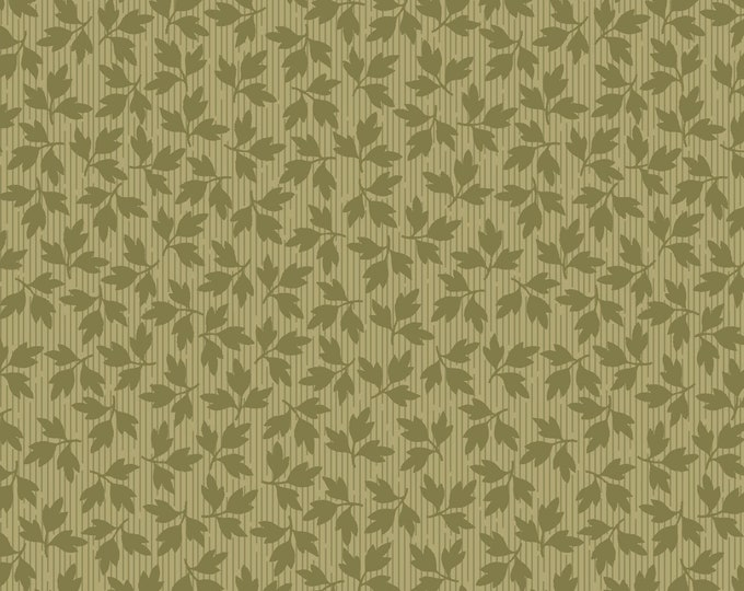 Maywood Fabric MAS9329-G Green Floral Leaves A Fruitful Life BTY