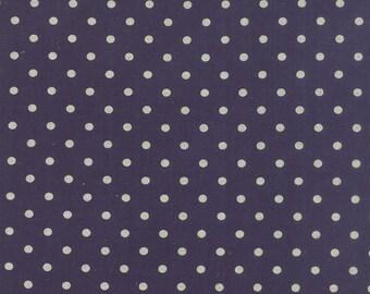 CANVAS Linen Cotton Blend MOCHI Dot Navy Blue by Momo of Moda Fabric 32910-55 BTY