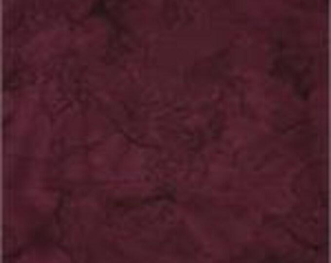 Batik Textiles Fabric Tonal Solid Blender Burgundy Maroon Purple 7236 BTY