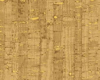 Windham Uncorked Cork Gold Metallic Brown Tan Natural Cork Fabric 50107M-06 BTHY