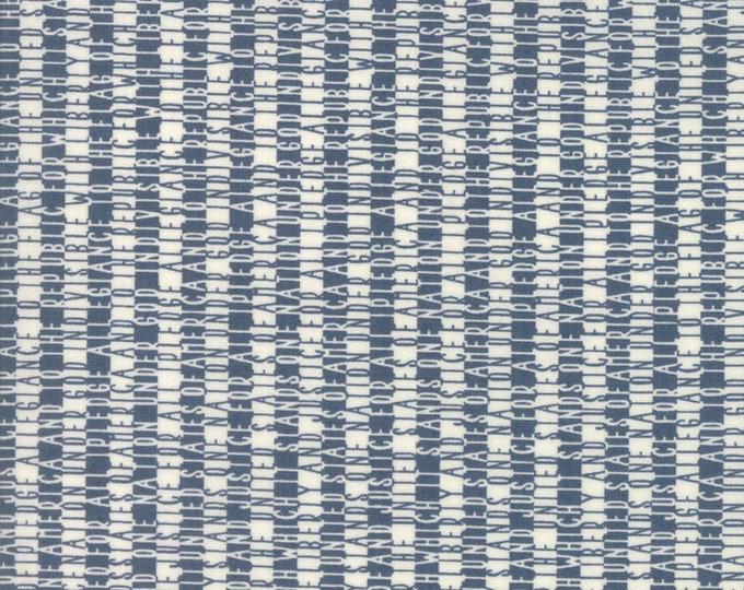 Moda Sweetwater FREEDOM Allegiance White Navy Blue Pledge of Allegiance Fabric 5643-22 BTY