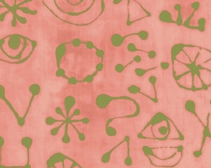 NEW Windham Art History 101 by Marcia Derse Miro Glyphs Rose Dusty Pink Fabric 50418-20 BTY