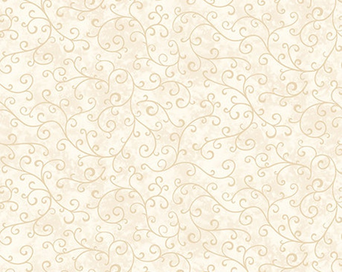 Quilting Treasures Mariposa Tonal Swirl Ecru Cream Off White Beige Blender Background Fabric BTY 25916-E