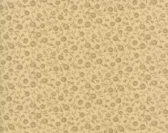 Moda Little Gatherings II Pie Crust Tonal Floral Beige Cream Civil War Fabric 1182-16 BTY