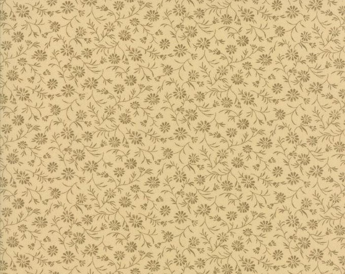 Moda Little Gatherings II Pie Crust Tonal Floral Beige Cream Civil War Fabric 1182-16 BTHY