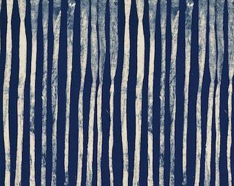 NEW Windham LINE by Marcia Derse Indigo Deep Navy Blue Fabric 50410-21 BTY