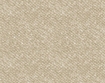 Maywood Woolies Cream Tan Ecru Nubby Tweed FLANNEL Fabric MASF-18507-E 2.5 yard