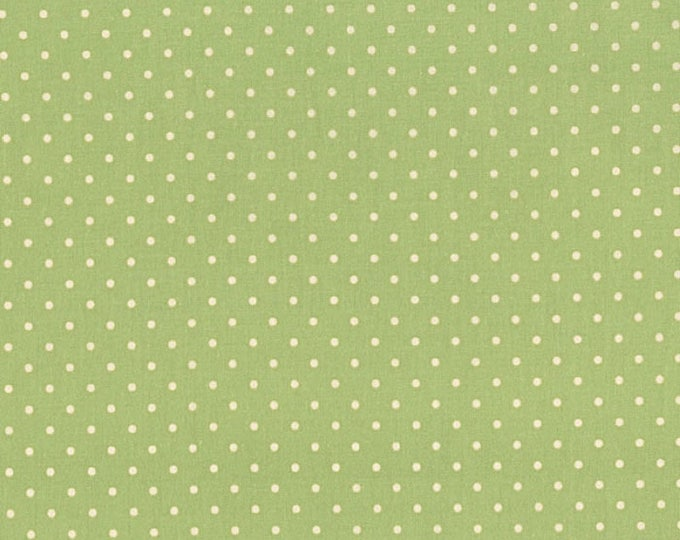 Robyn Pandolph Home Essential Polka Dots Green with Cream 0016-050 Fabric BTY