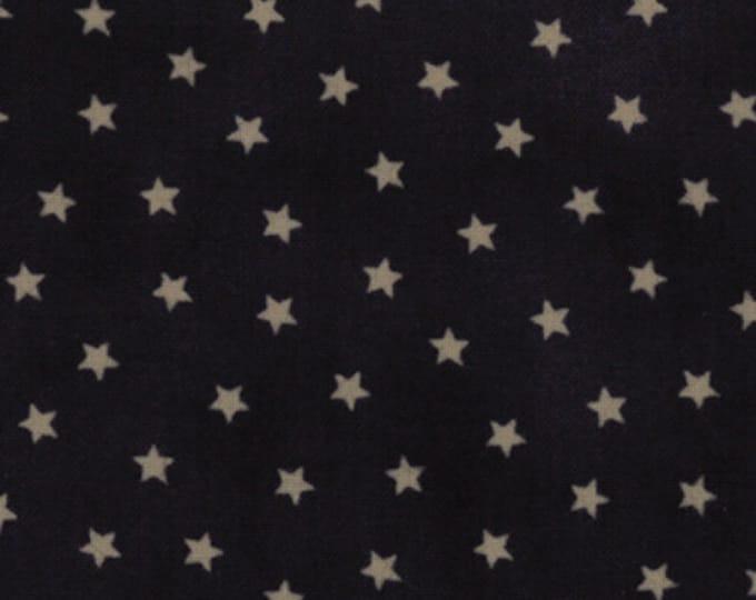 Moda OLD GLORY Gatherings Dark Blue Star Patriotic Primitive Gatherings Fabric 1074-25 BTY