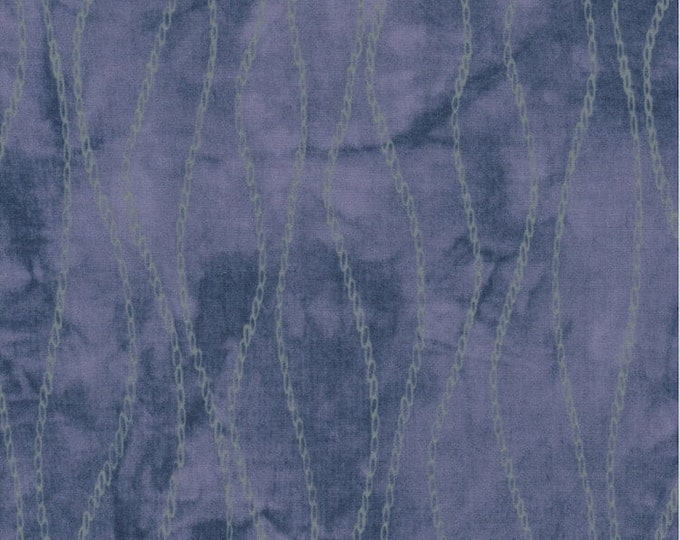 Troy Riverwoods River's Bend Spa Collection Janine Burke Purple Green Chain 1 yard fabric BTY