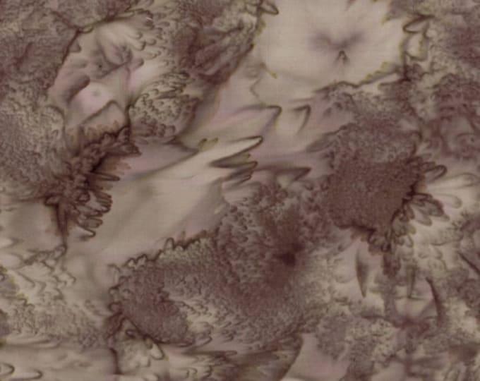 Hoffman 1895 Watercolors Solid Batik Fabric Mink Taupe Brown 1895-308 BTY