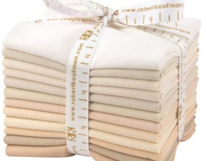 12 Kona Cotton Fat Quarters Not Quite White Palette FQ-909-12 Quilt Fabric Fat Quarter Bundle