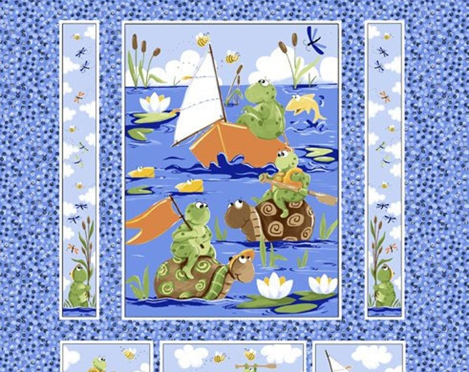 "Paul & Sheldon paddling quilt panel 100% cotton 34"" By Susybee"
